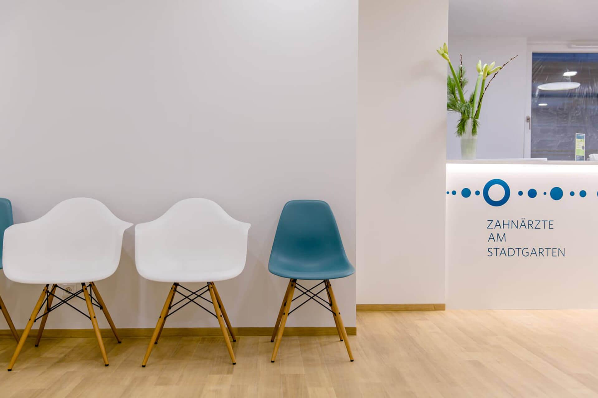 Das Wartezimmer in unserer Zahnarztpraxis