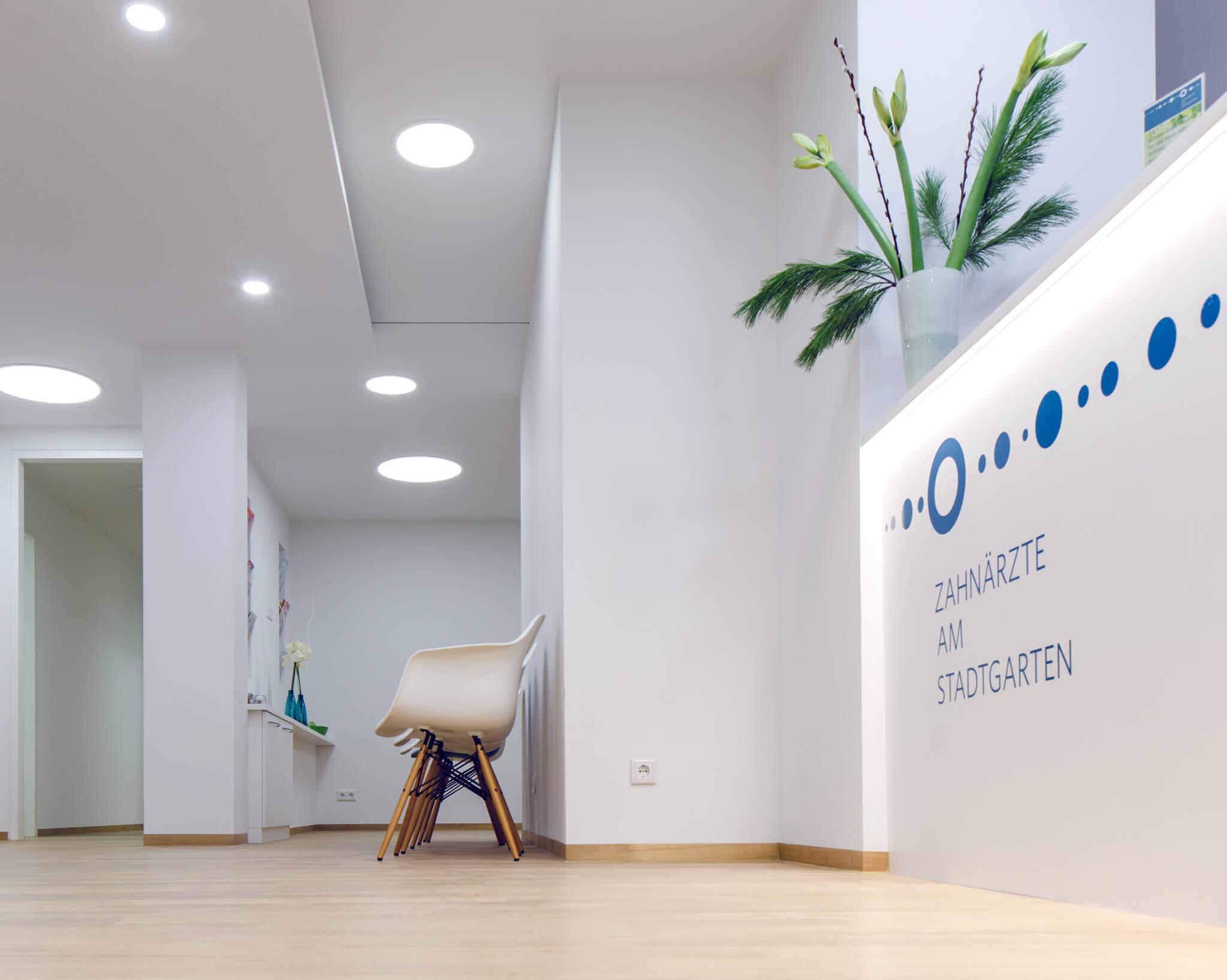 Eingang Zahnarzt Praxis in Köln am Stadtgarten
